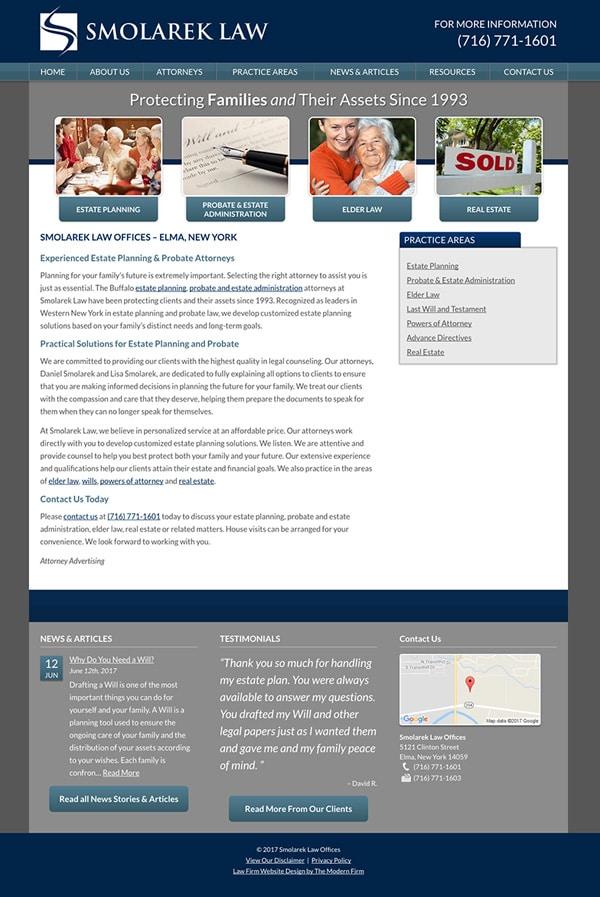 Law Firm Website Design for Smolarek Law Offices