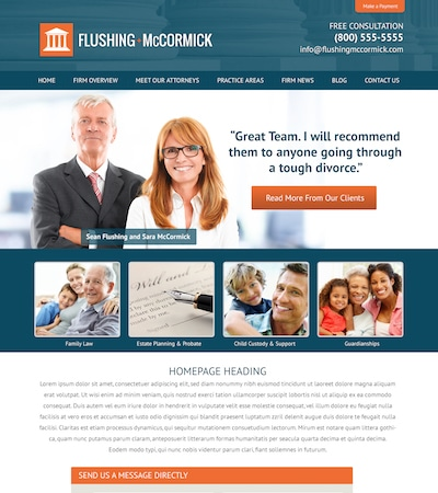 Law firm wbsite design concept Layout #109
