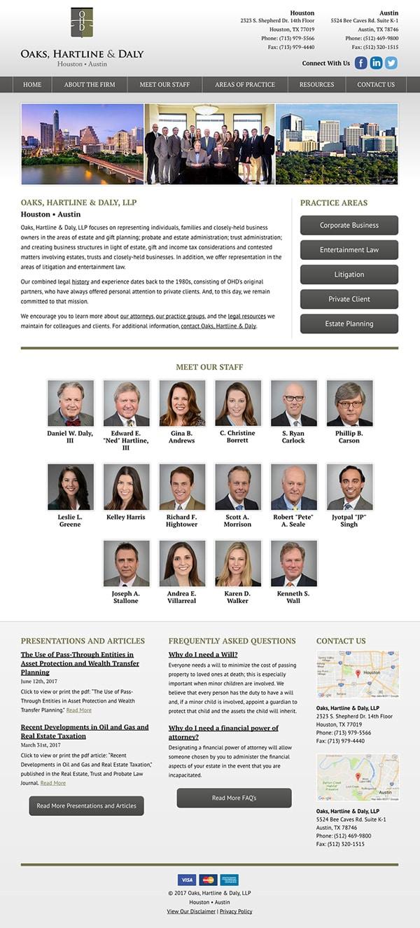 Law Firm Website Design for Oaks, Hartline & Daly, LLP
