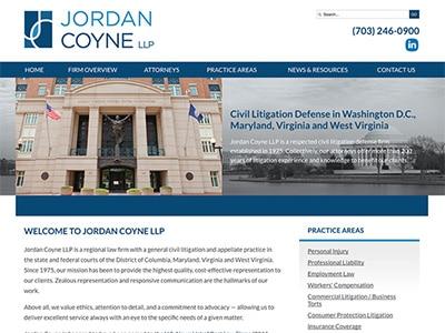 Law Firm Website design for Jordan Coyne LLP
