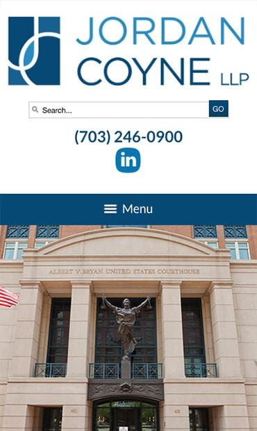 Responsive Mobile Attorney Website for Jordan Coyne LLP