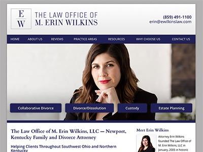 Website Design for Kentucky Divorce Lawyer Erin Wilkins