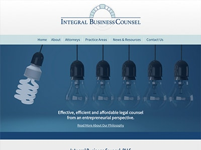 Law Firm Website design for Integral Business Counsel…