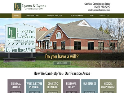 Website Rescue for Ohio Attorneys Lyons & Lyons