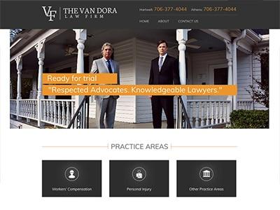 Website Design Rescue for Georgia Van Dora Law Firm
