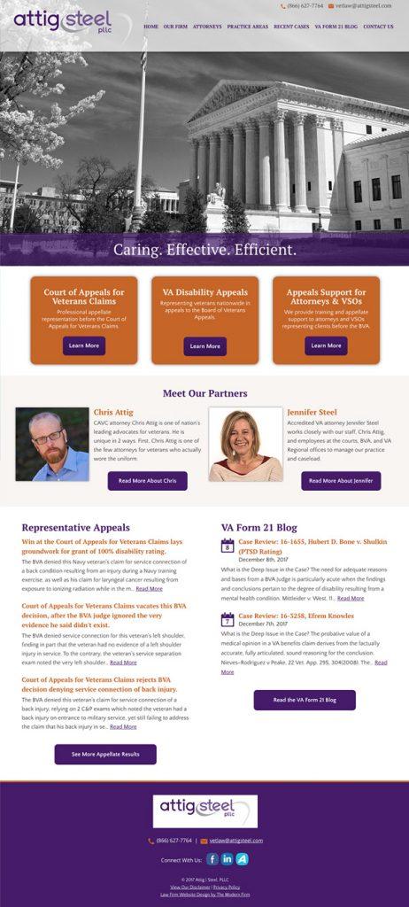 Website Design for Attorney Attig Steel