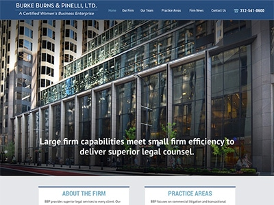 Website Design for Burke Burns & Pinelli, Lt…