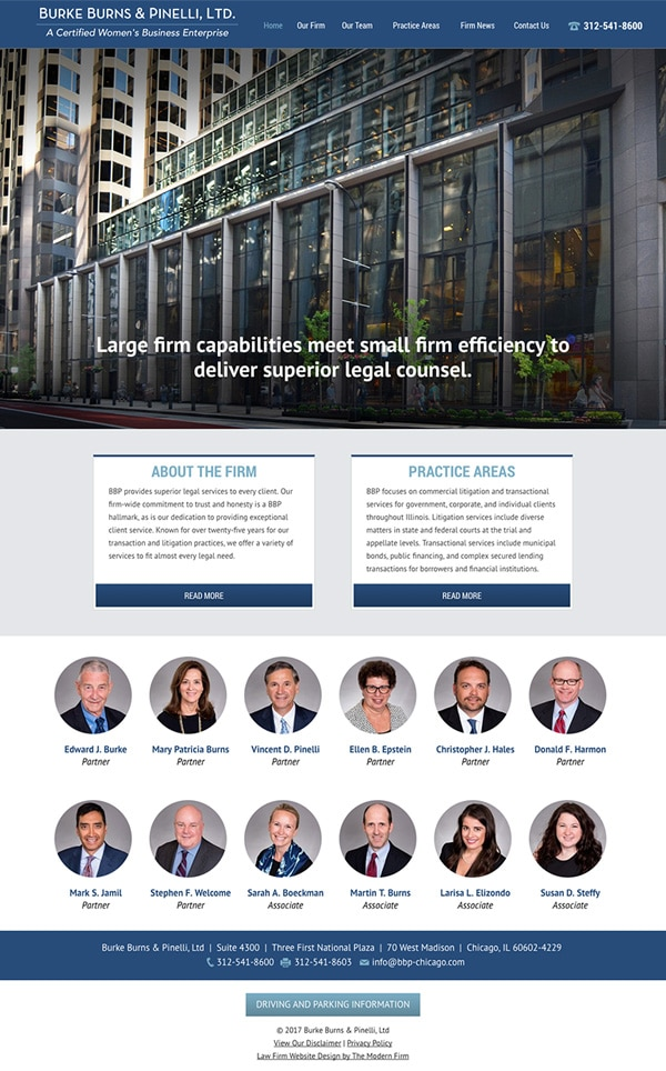 Website Design for Chicago Law Firm Burke Burns & Pinelli, Ltd