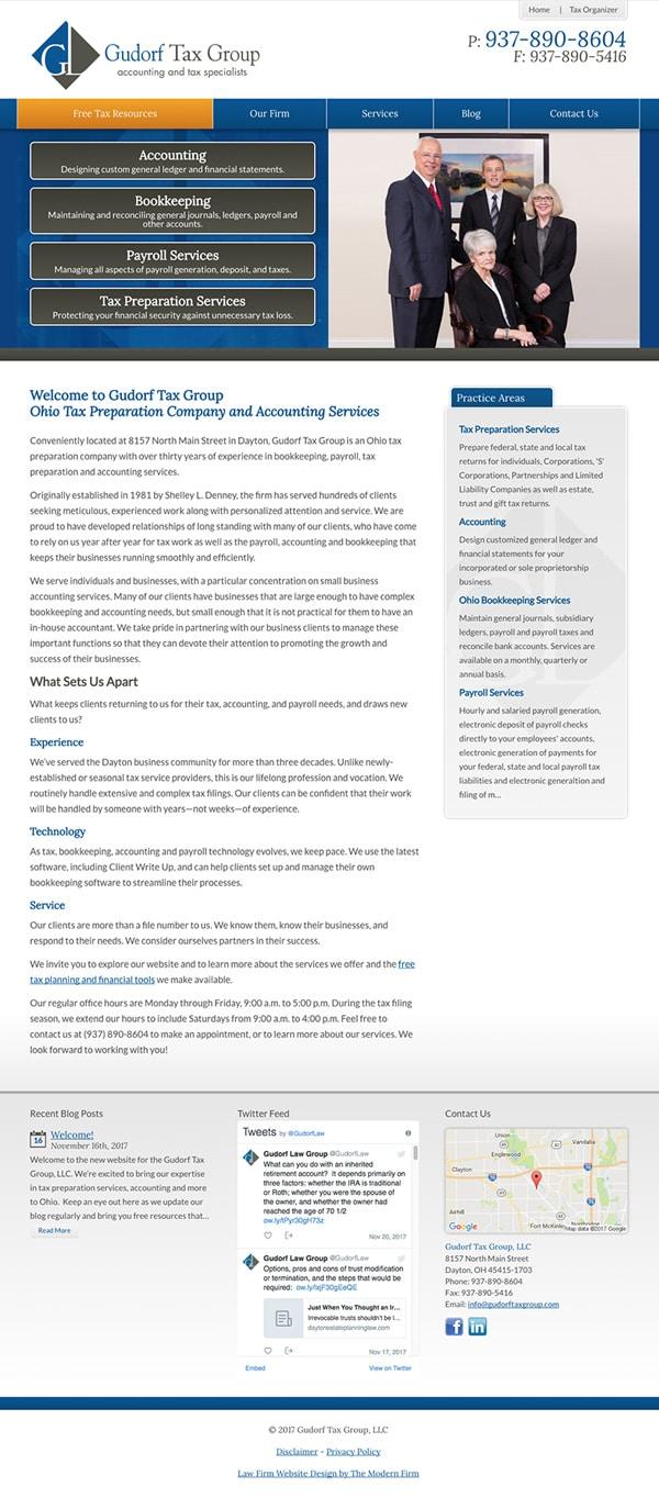 Law Firm Website Design for Gudorf Tax Group, LLC