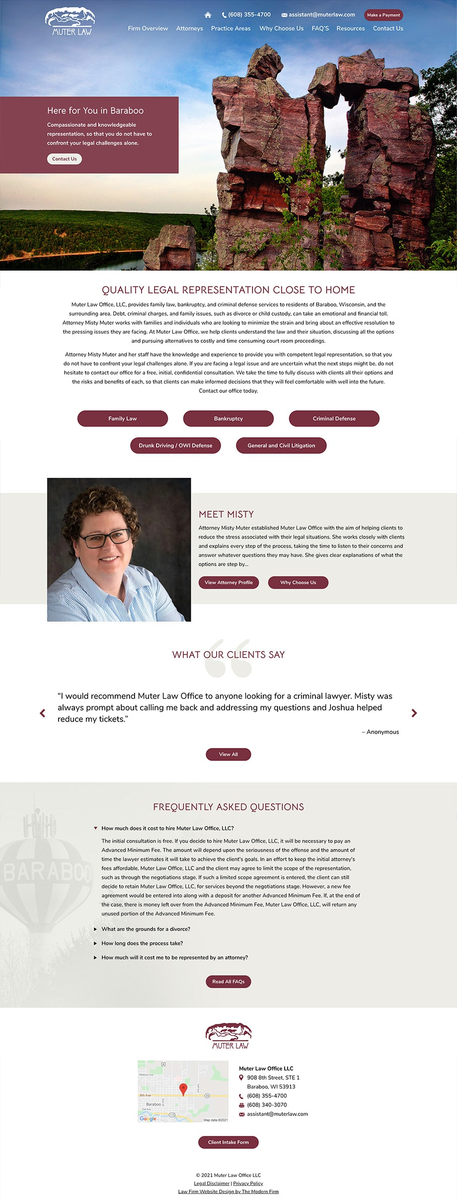 Law Firm Website Design for Muter Law Office LLC