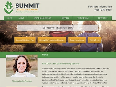 Law Firm Website design for Summit Legacy Planning