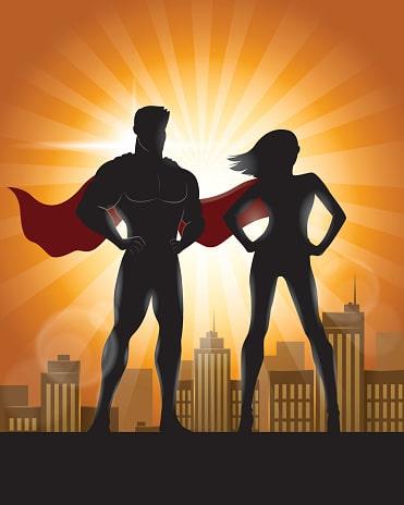 Superhero Website Designers with Capes
