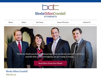 Law Firm Website design for Bleeke Dillon Crandall