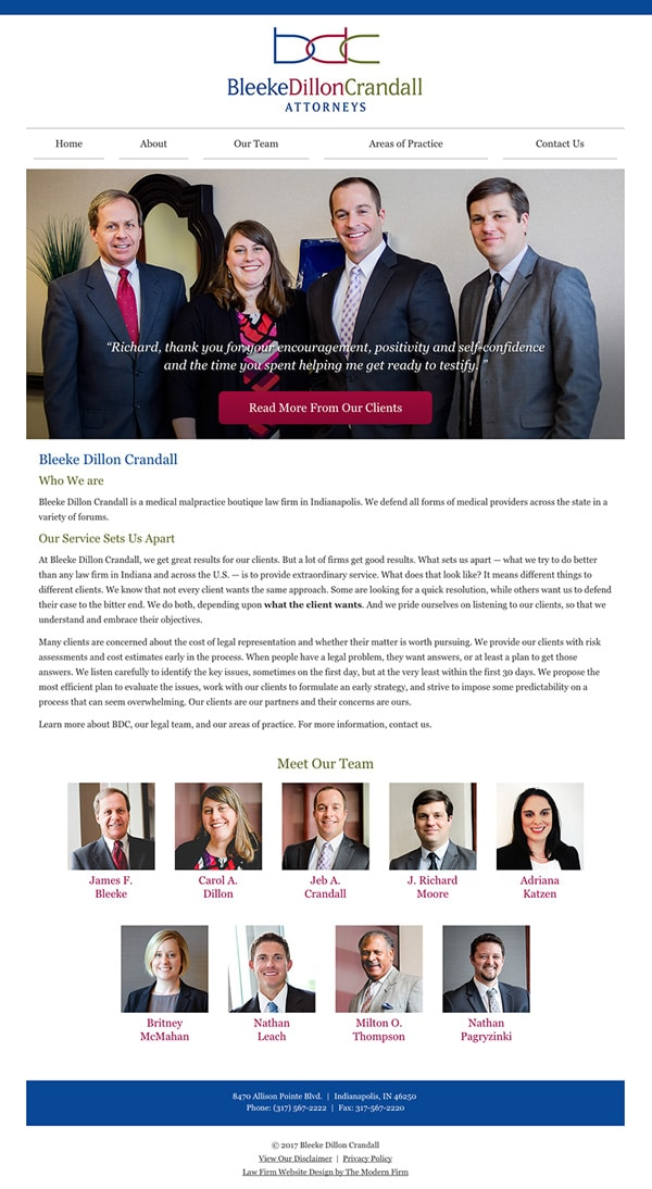 Law Firm Website for Bleeke Dillon Crandall