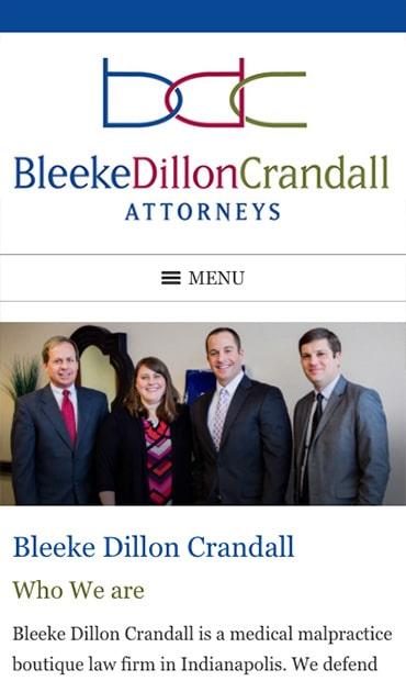 Responsive Mobile Attorney Website for Bleeke Dillon Crandall