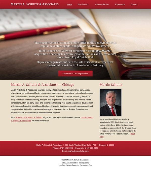 Law Firm Website Design for Martin A. Schultz & Associates