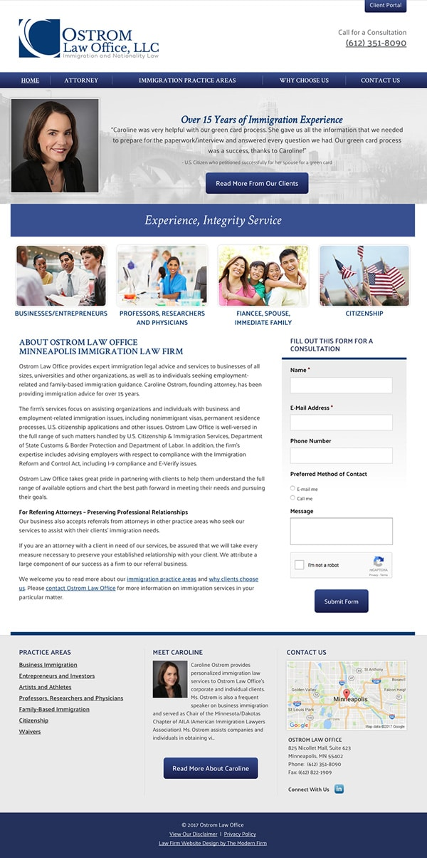 Law Firm Website Design for Ostrom Law Office