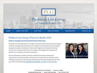 Law Firm Website design for Piedmont Law Group of Gar…