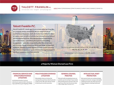 Law Firm Website design for Talcott Franklin P.C.