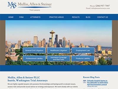 Law Firm Website design for Mullin, Allen & Steiner P…