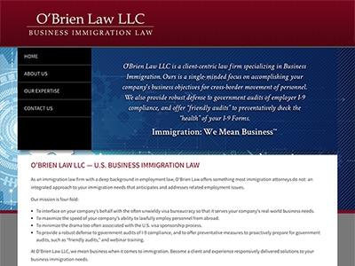 Law Firm Website design for O'Brien Law LLC