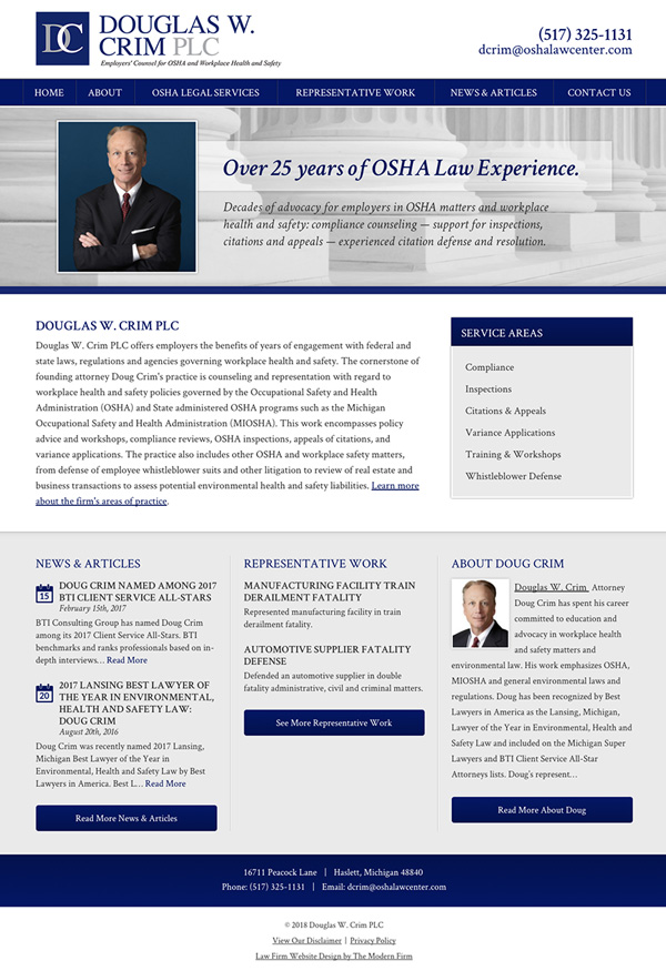 Law Firm Website Design for Douglas W. Crim PLC