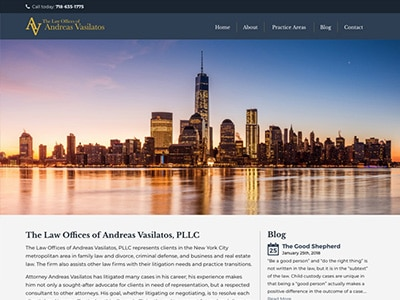 Law Firm Website design for Law Offices of Andreas Va…