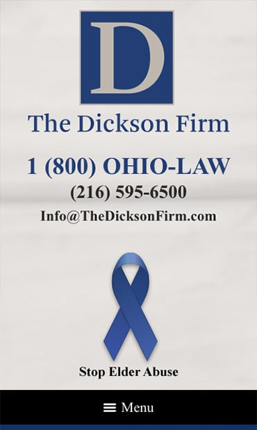 Responsive Mobile Attorney Website for The Dickson Firm