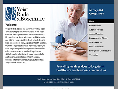 Law Firm Website design for Voigt, Rode & Boxeth LLC