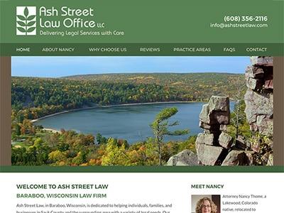 Law Firm Website design for Ash Street Law Office LLC