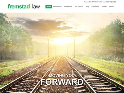 Law Firm Website design for Fremstad Law