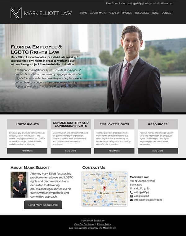 Law Firm Website Design for Mark Elliott Law