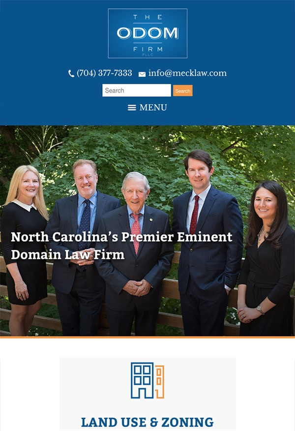 Mobile Friendly Law Firm Webiste for The Odom Firm, PLLC