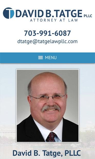 Responsive Mobile Attorney Website for David B. Tatge, PLLC