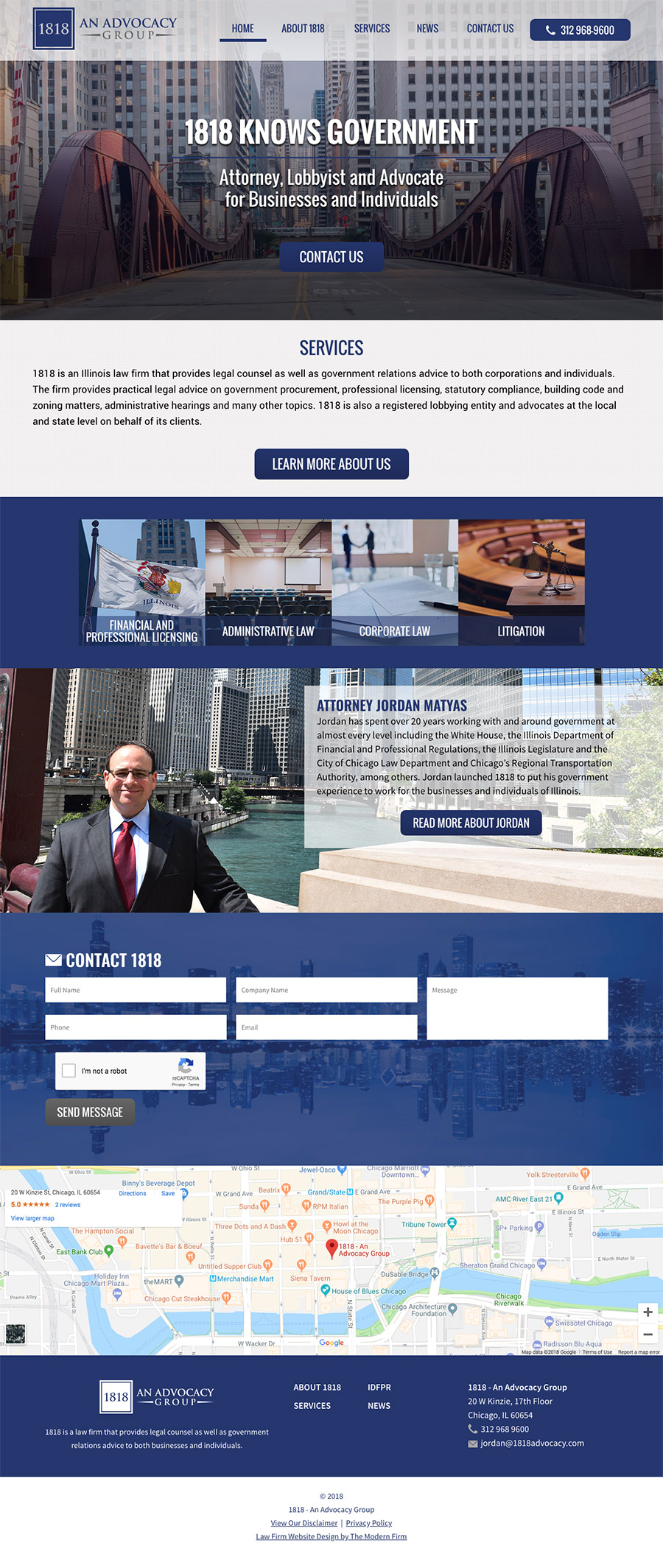 Law Firm Website Design for 1818 - An Advocacy Group