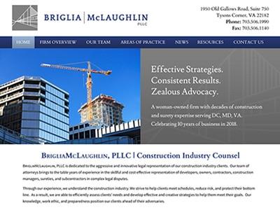 Law Firm Website design for Briglia McLaughlin, PLLC
