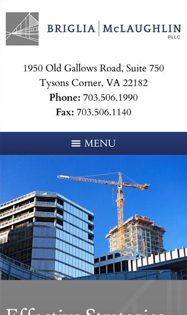 Responsive Mobile Attorney Website for Briglia McLaughlin, PLLC