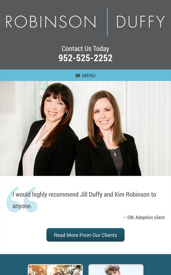 Mobile Friendly Law Firm Webiste for Robinson Duffy