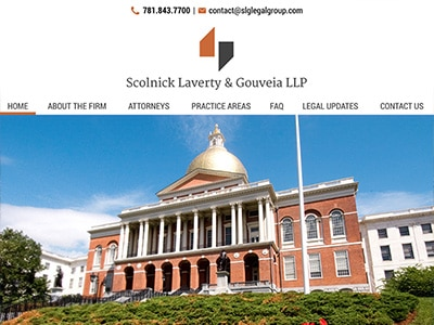 Law Firm Website design for Scolnick Laverty & Gouvei…