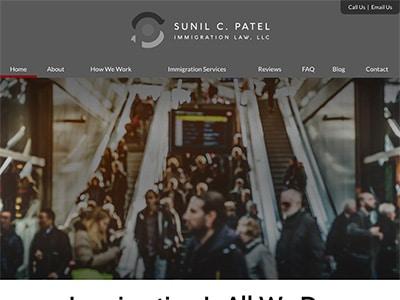 Law Firm Website design for Sunil C. Patel Immigratio…