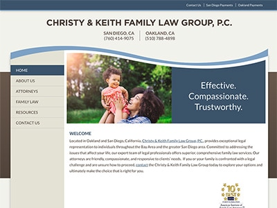 Law Firm Website design for Christy & Keith Family La…
