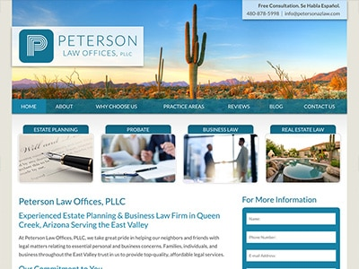 Law Firm Website design for Peterson Law Offices, PLL…
