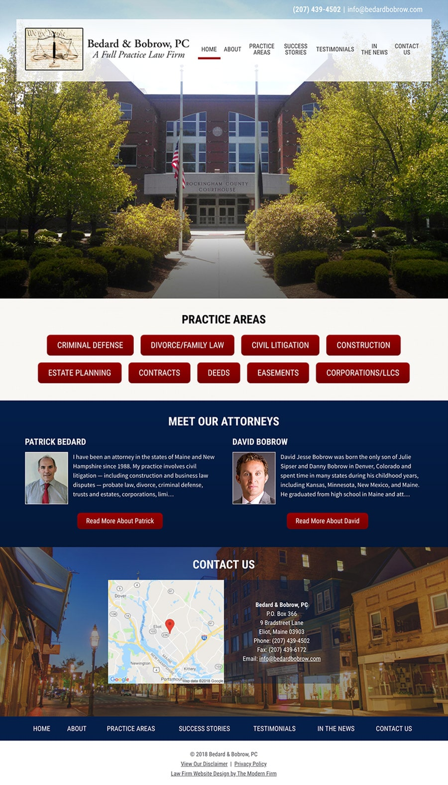 Law Firm Website Design for Bedard & Bobrow, PC