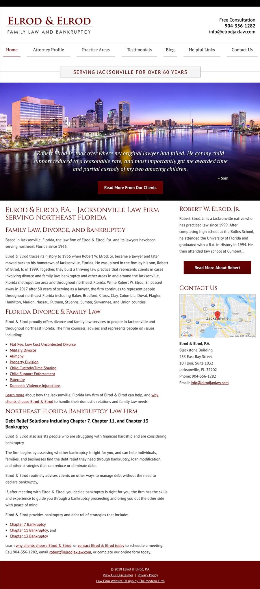 Law Firm Website Design for Elrod & Elrod, P.A.