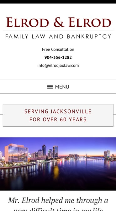 Responsive Mobile Attorney Website for Elrod & Elrod, P.A.