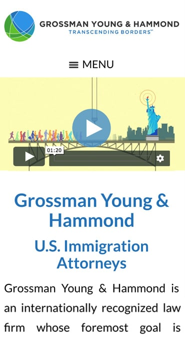 Responsive Mobile Attorney Website for Grossman Young & Hammond