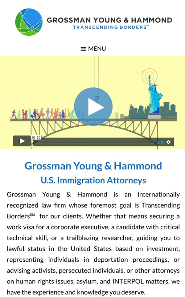 Mobile Friendly Law Firm Webiste for Grossman Young & Hammond