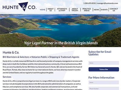 Law Firm Website design for Hunte & Co.