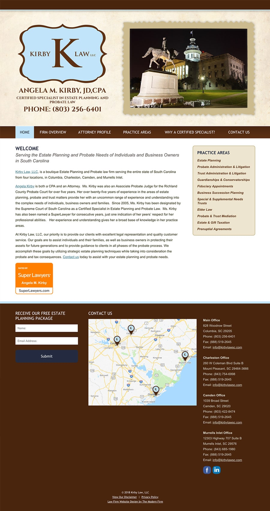 Law Firm Website Design for Kirby Law, LLC