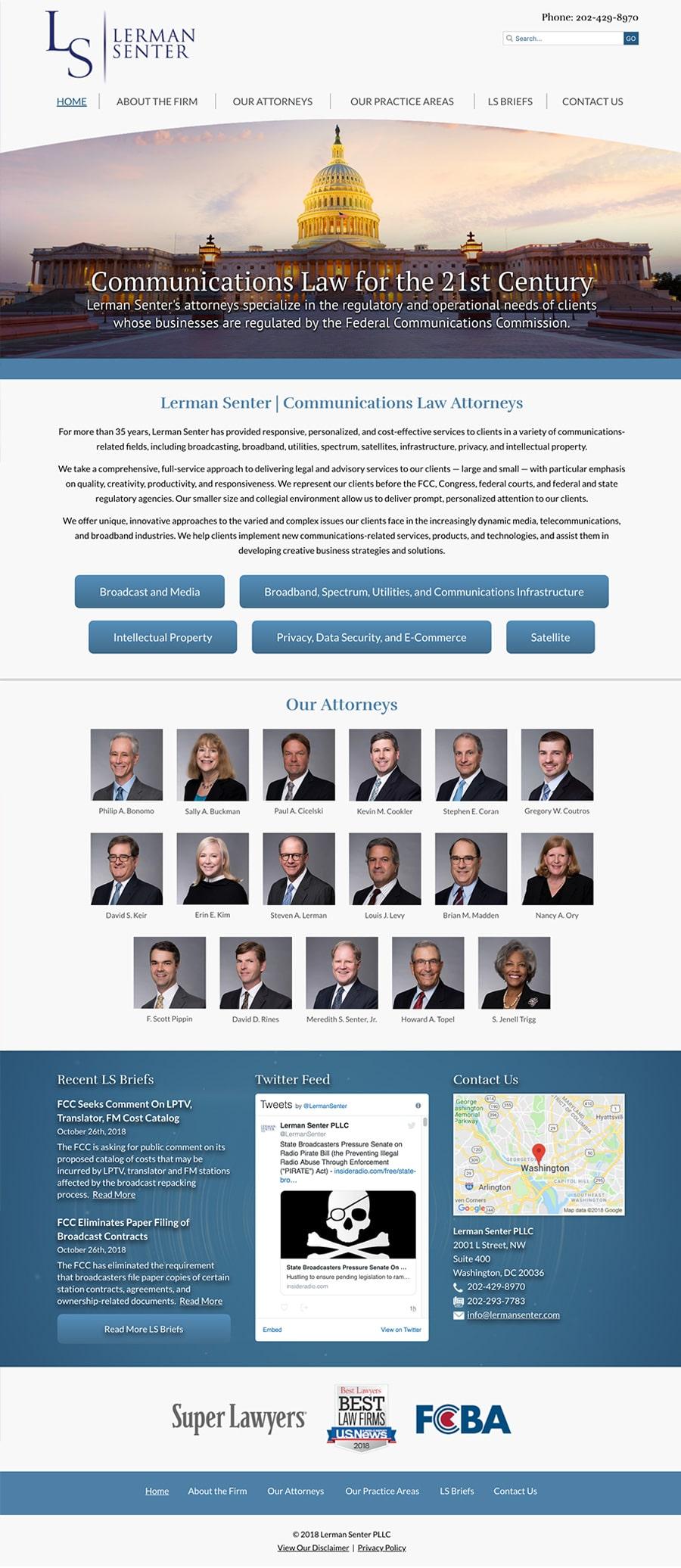 Law Firm Website Design for Lerman Senter PLLC